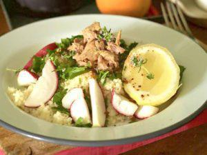 COUSCOUS WITH SMOKED TUNA