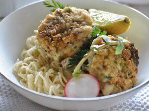 NOODLES WITH SMOKED TUNA MEATBALLS