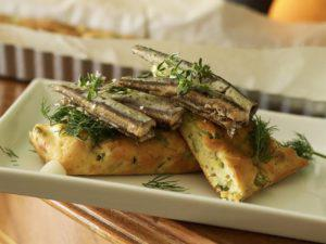 FENNEL PIES WITH ANCHOVIES WITH OREGANO